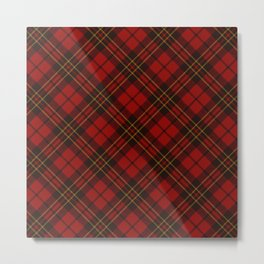Adorable Red Christmas tartan Metal Print