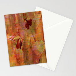 Vintage Soft Peach Glow Gladiola Abstract Stationery Cards