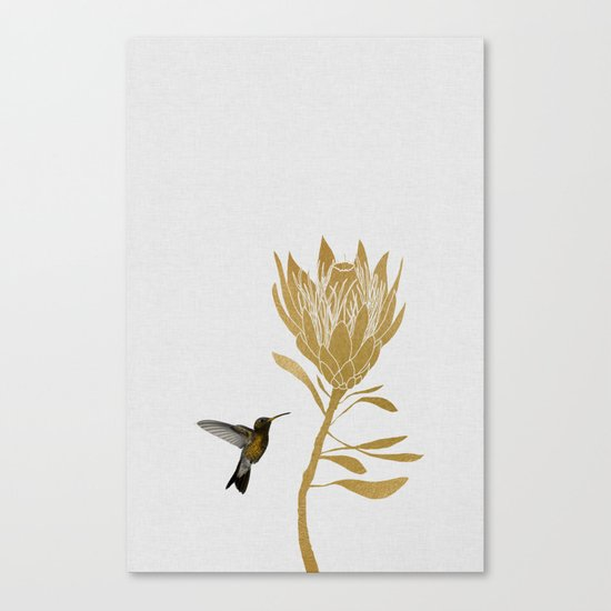 Hummingbird & Flower I by paperpixelprints