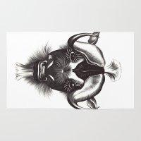 buffalo Area & Throw Rugs featuring Buffalo  by tangledribbons