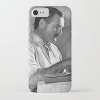 hemingway iPhone & iPod Cases featuring Ernest Hemingway  by Limitless Design