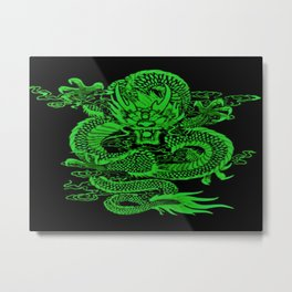Epic Dragon Green Metal Print