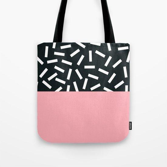 Memphis pattern 24 Tote Bag