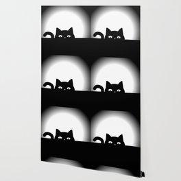 Peeking Cat Wallpaper