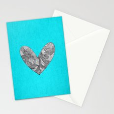 Patterned Heart Stationery Cards