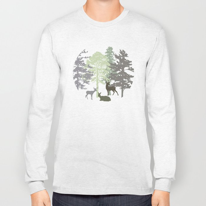 Morning Deer In The Woods No. 1 Long Sleeve T-shirt
