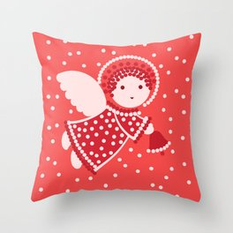 Angels on the red Throw Pillow