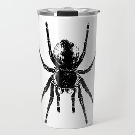 Scary Tarantula Spider Halloween Black Arachnid Graphic Travel Mug