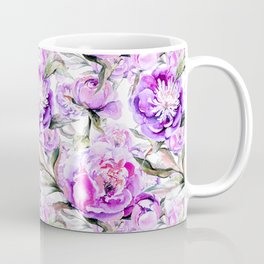 Modern lilac violet watercolor hand painted floral motif Coffee Mug