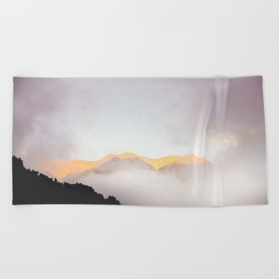Pastel Mountains #photography Beach Towel
