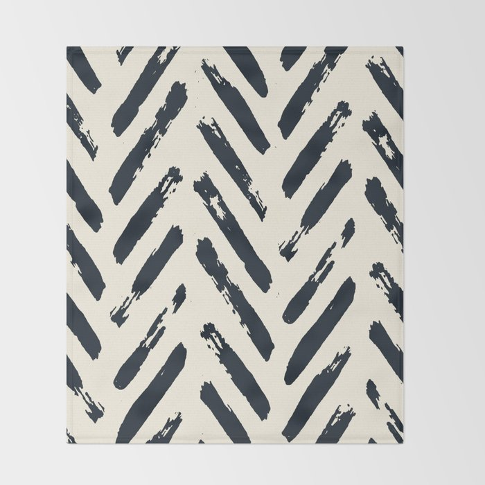 Retro Chevron Pattern 02 Throw Blanket