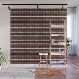 geo brush stripe square Wall Mural