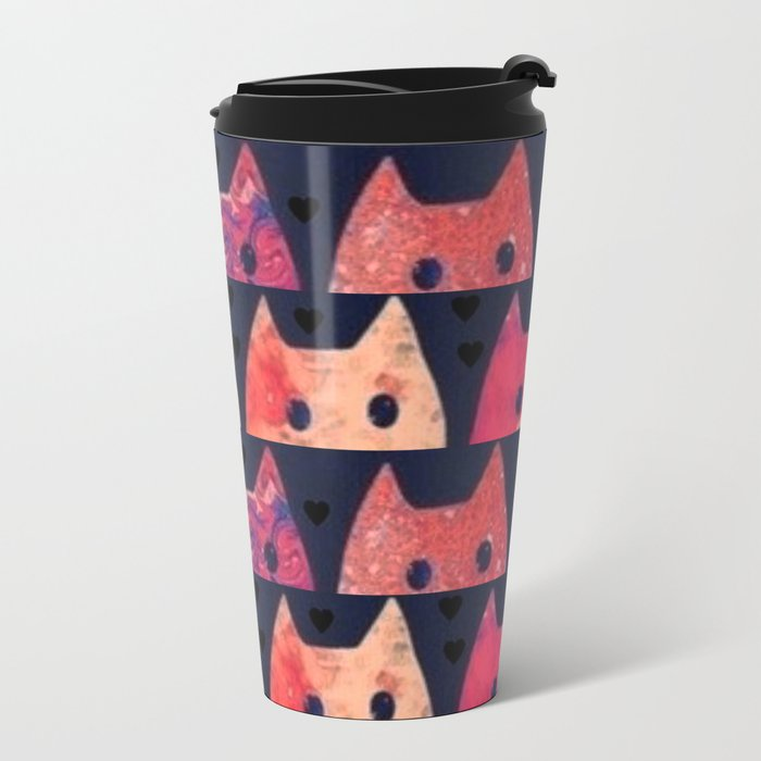 cats-185 Metal Travel Mug
