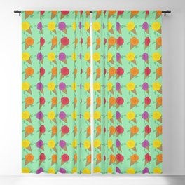 Roses are Rainbow Sorbet Blackout Curtain
