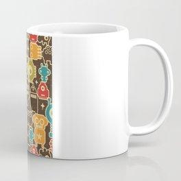 Robots on brown. Coffee Mug