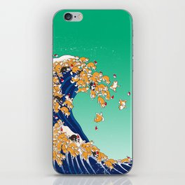 Christmas Shiba Inu The Great Wave iPhone Skin