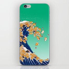 Christmas Shiba Inu The Great Wave iPhone Skin