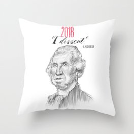 George Dissents Throw Pillow