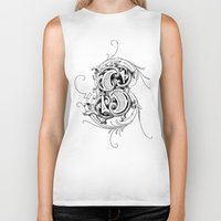 monogram Biker Tanks featuring monogram s by Art Lahr