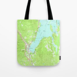 Vintage Map of Lake George New York (1966) 2 Tote Bag