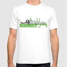 Crocodile SMALL Mens Fitted Tee White