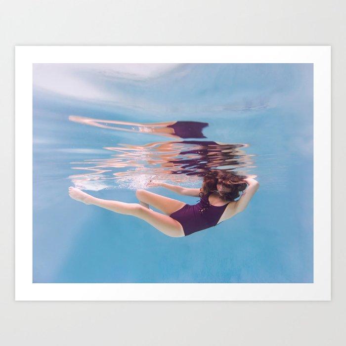 Underwater Glide Art Print
