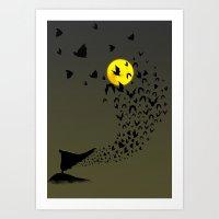 bats Art Prints featuring Bats by Badamg