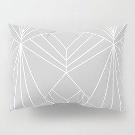 Art Deco on Grey - Large Scale Pillow Sham