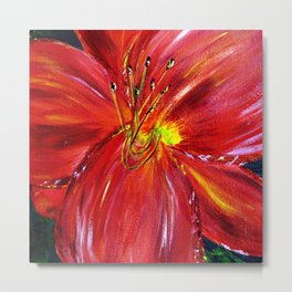 Pinks and Red Daylily Metal Print