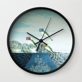 atmosphere 38 · Flying Fish Bowl Wall Clock