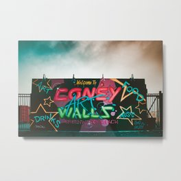 Coney Island Graffiti 2 Metal Print