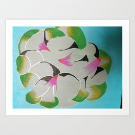 Petals and leaves Art Print