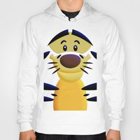 cartoons Hoodies featuring Cute Orange Cartoons Tiger Apple iPhone 4 4s 5 5s 5c, ipod, ipad, pillow case and tshirt by Three Second