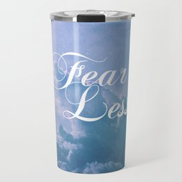 Fearless in a beautiful cloudy sky Travel Mug