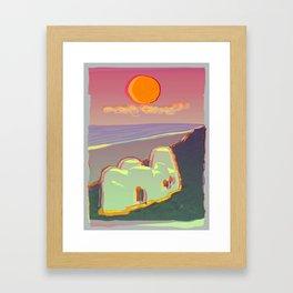 Red Moon Summer Vibrations Framed Art Print
