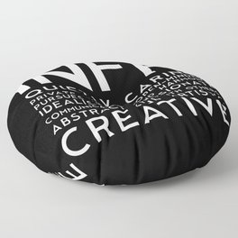 INFP (black version) Floor Pillow