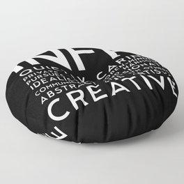 INFP (black version) Floor Pillow