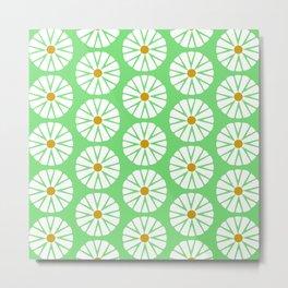Botanical Daisies Minimal Pattern - #02 Metal Print