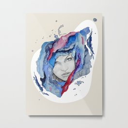"""Tess"" by carographic Metal Print"