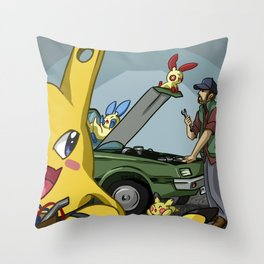 Pokenatural: Singer Salvage Throw Pillow