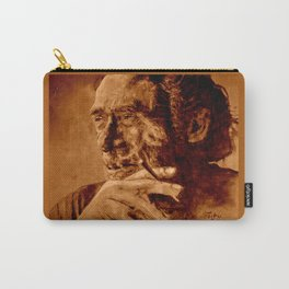 Charles Bukowski - quote - sepia Carry-All Pouch