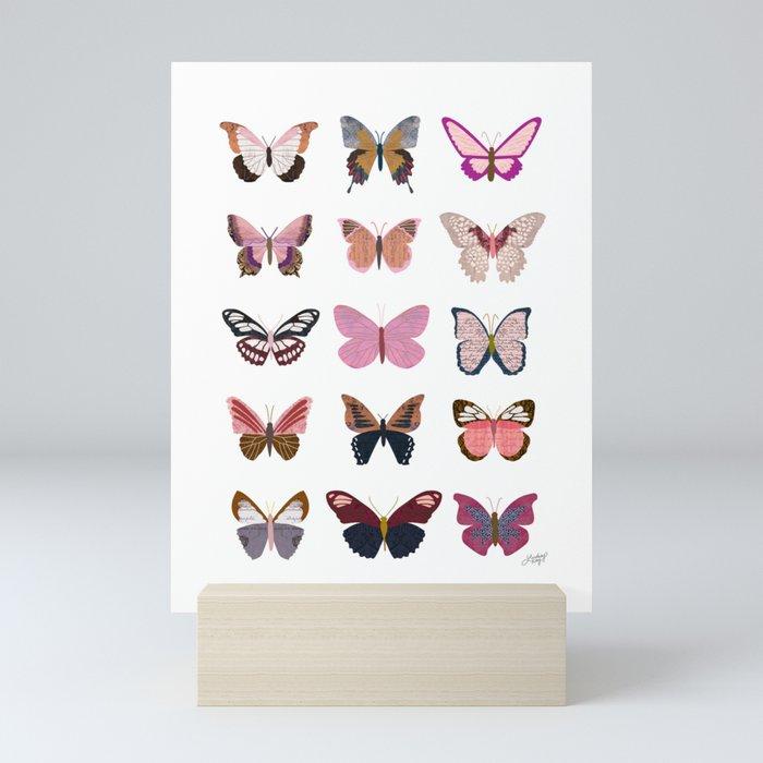 Pink Butterflies Mini Art Print