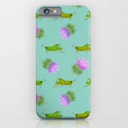 Grasshoppers and Thistles iPhone Case