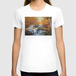 Living in a Van Down T-shirt