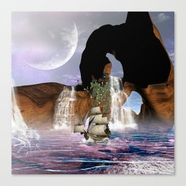 View over the ocean Canvas Print