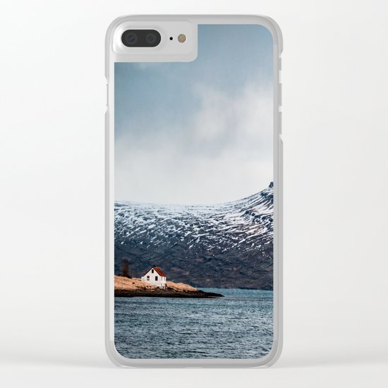 Alone House Mountain Clear iPhone Case