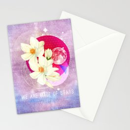 We are made of stars Stationery Cards