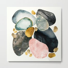Pebble Abstract Metal Print
