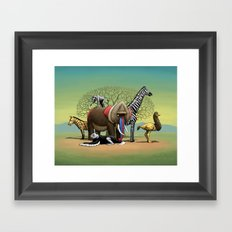 Skin-Swap Safari Framed Art Print