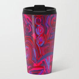 Red blue symbols Travel Mug